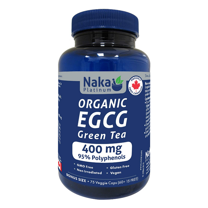 Organic EGCG Green Tea 400mg 75 Caps Naka Platinum