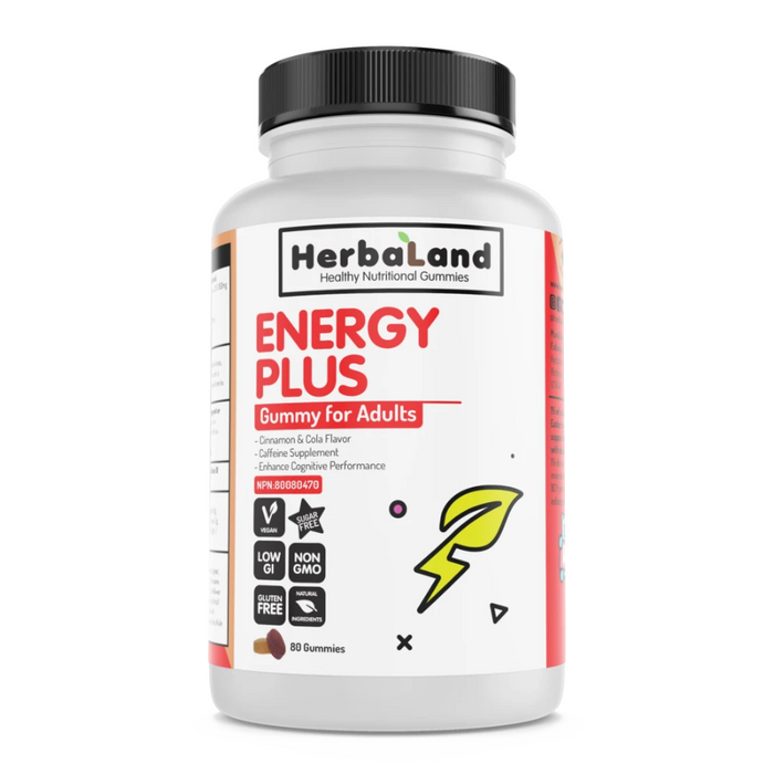 Energy Plus Gummies for Adults 80 Gummies HerbaLand