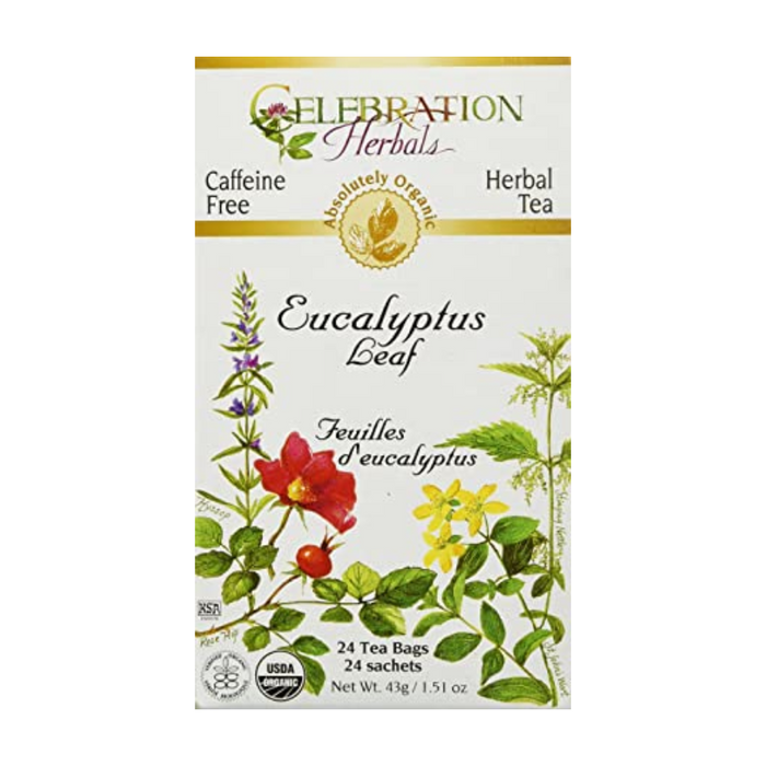 Eucalyptus Leaf Herbal Tea 24 Tea Bags Celebration Herbals