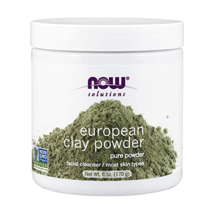European Clay Powder Facial Cleanser 170g Now Foods