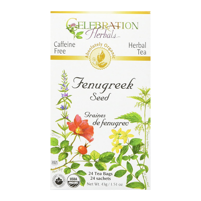 Fenugreek Seed Herbal Tea 24 Tea Bags Celebration Herbals