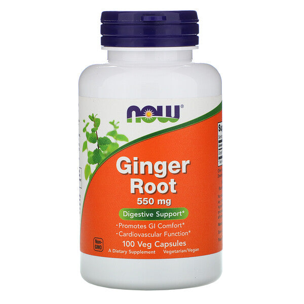Ginger Root 550mg 100 Capsules Now Foods