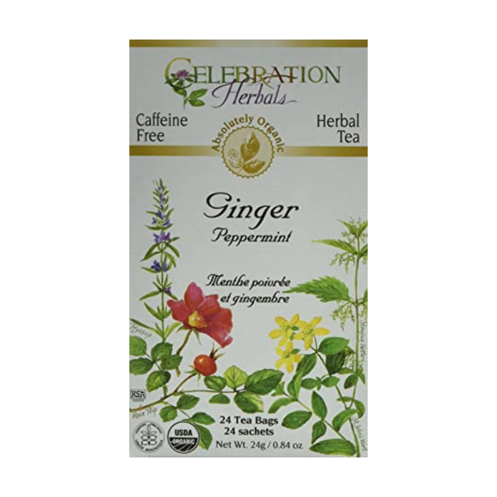Ginger Peppermint Herbal Tea 24 Tea Bags Celebration Herbals