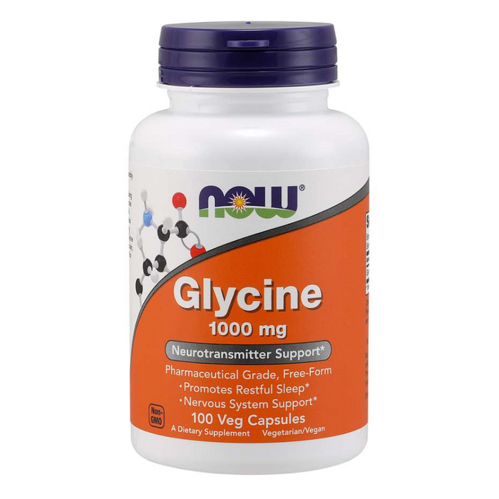 Glycine 1000mg 100 Caps Now Foods