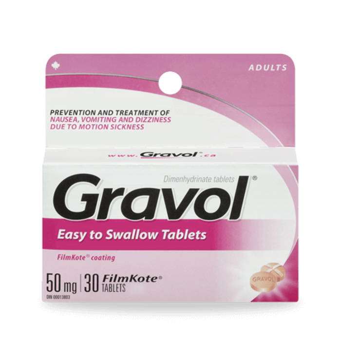 Gravol Easy to Swallow 50mg 30 Tablets
