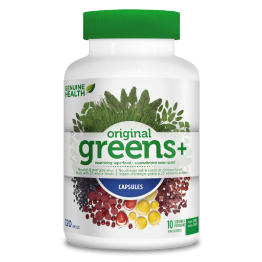 Original Greens+ Superfood Capsules 360 Capsules Genuine Health