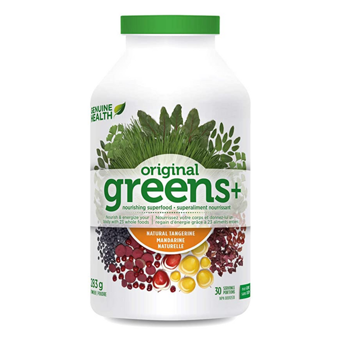Original Greens+ Superfood 283g Tangerine Flavour Genuine Health