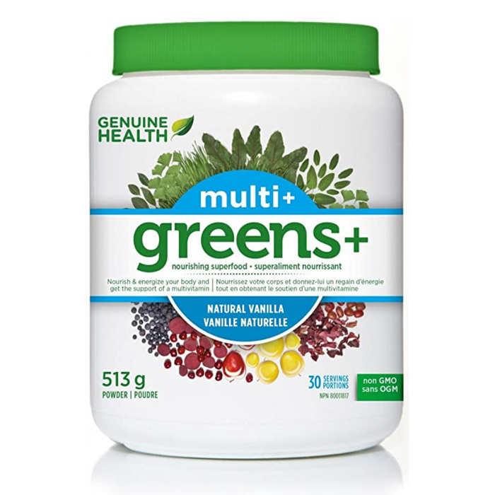 Multi+ Greens+ Superfood 521g Natural Vanilla Flavour Genuine Health