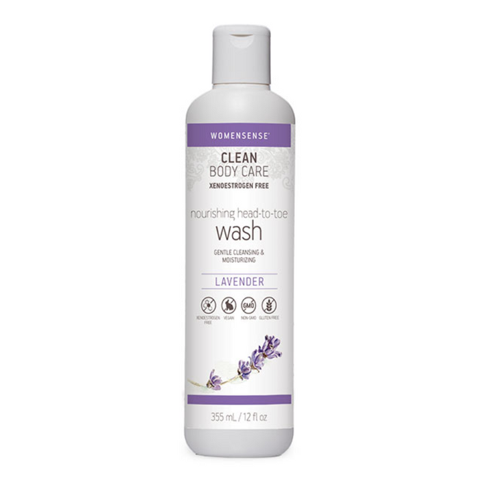 Nourishing Head-to-Toe Wash Lavender Clean Body Care 355ml Womensense