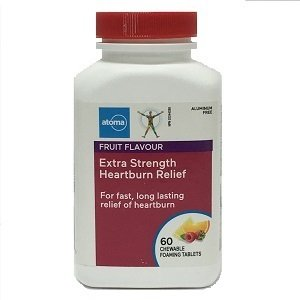 Extra Strength Heartburn Relief 60 Fruit Flavoured Chewable Tablets Atoma