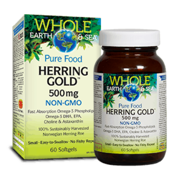 Pure Food Herring Gold 60 Softgels Whole Earth and Sea