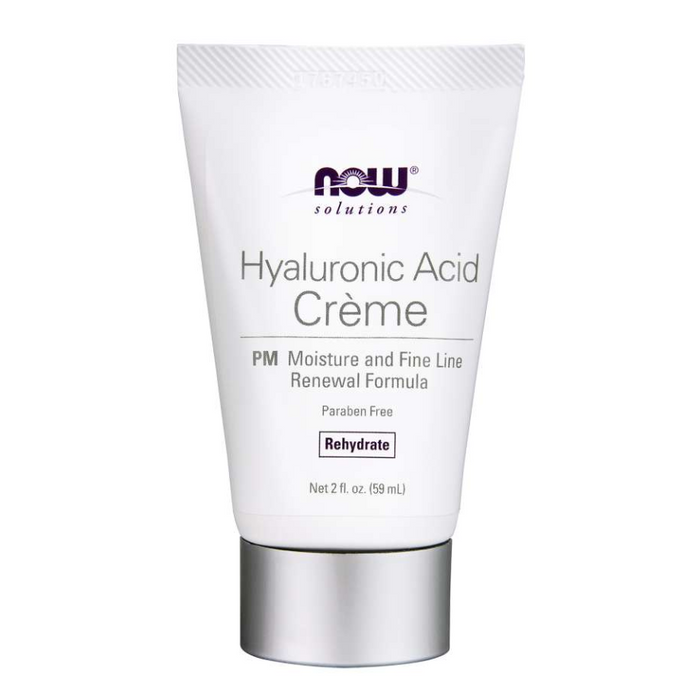 Hyaluronic Acid Creme PM Moisture Renewal Formula 59ml Now Foods