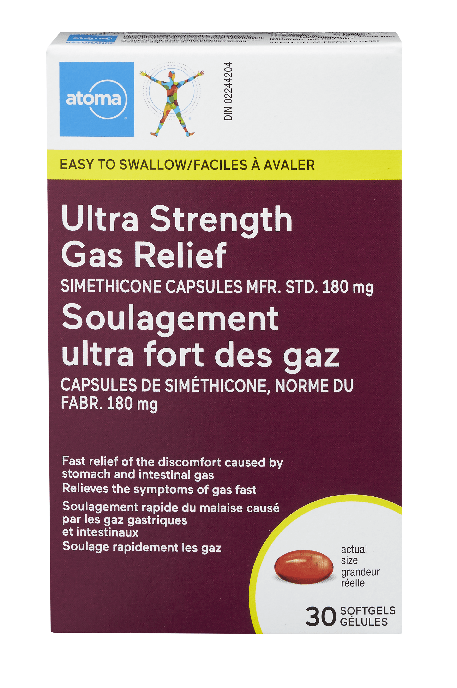 Atoma Ultra Strength Gas Relief 30 Softgels