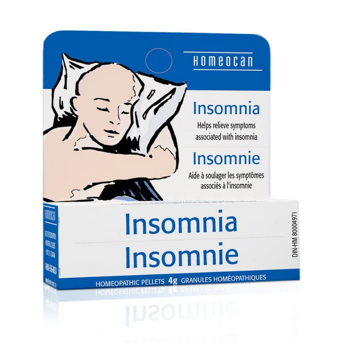 Insomnia Relief Homeopathic Pellets 4g Homeocan