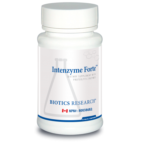 Intenzyme Forte 50 Tablets Biotics Research Canada