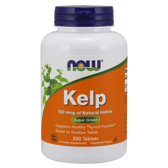 Kelp Super Green 200 Tablets Now Foods