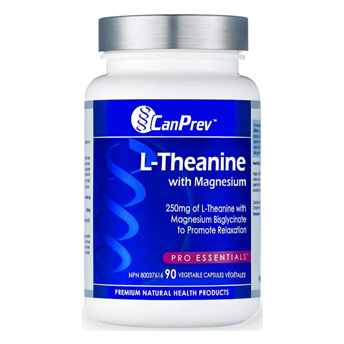 L-Theanine with Magnesium 250mg 90 Capsules CanPrev