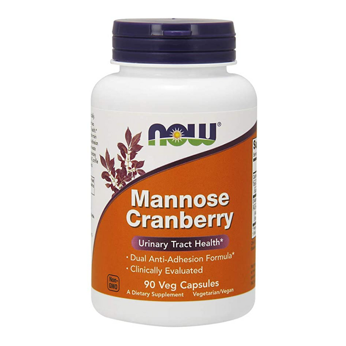 Mannose Cranberry 700mg 90 Capsules Now Foods