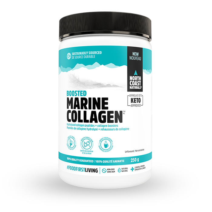 Boosted Marine Collagen 250g Unflavoured Powder North Coast Naturals