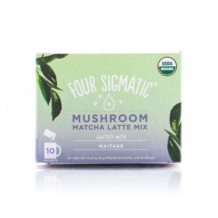 Mushroom Matcha Latte Mix with Maitake 10 Packets Four Sigmatic