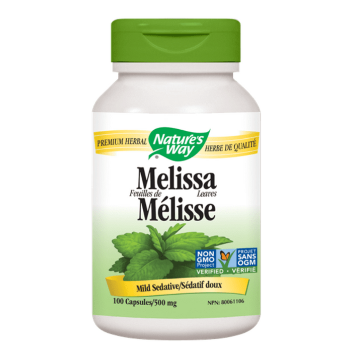 Melissa Leaves 500mg 100 Capsules Nature's Way
