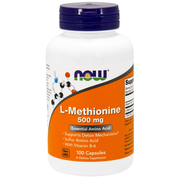 L-Methionine 500mg 100 Caps Now