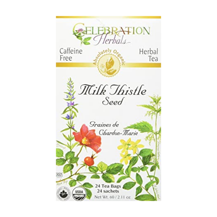 Milk Thistle Seed Herbal Tea 24 Tea Bags Celebration Herbals