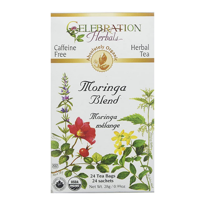 Moringa Blend Herbal Tea 24 Tea Bags Celebration Herbals