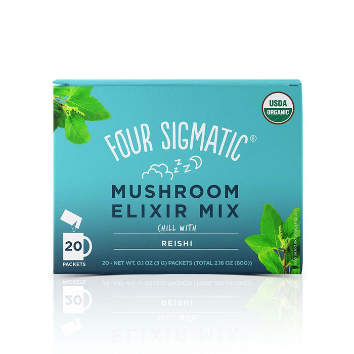 Mushroom Elixir Mix with Reishi 20 Packets Four Sigmatic