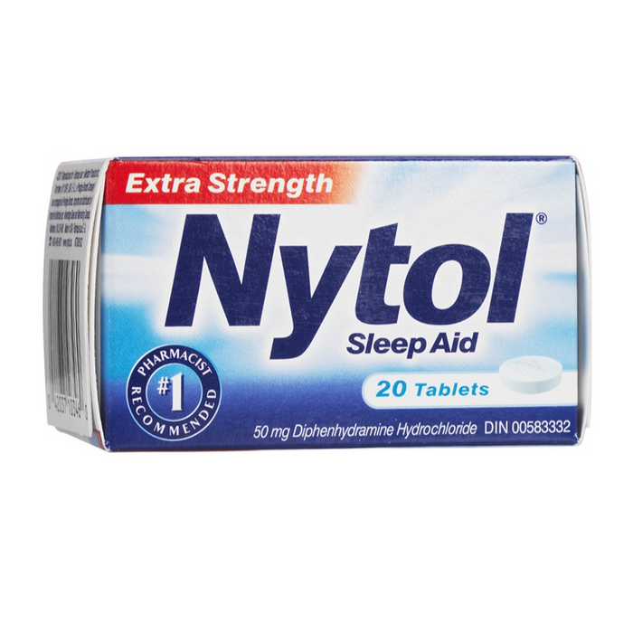Nytol Sleep Aid Extra Strength 50mg 20 Caplets