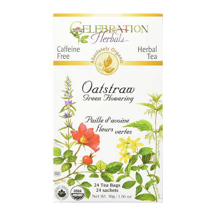 Oatstraw Green Flowering Herbal Tea 24 Tea Bags Celebration Herbals