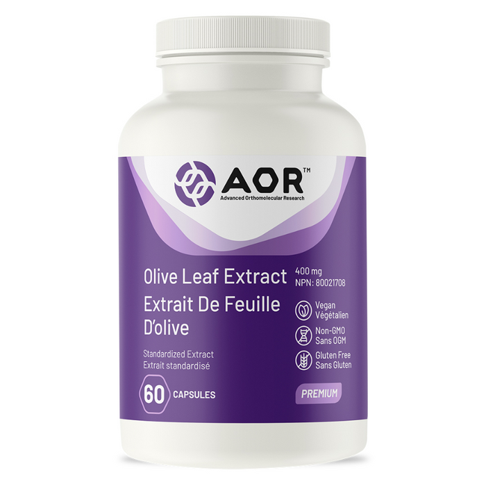 Olive Leaf Extract 400mg 60 Capsules AOR