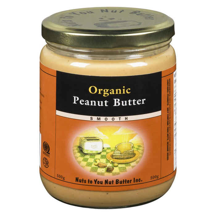 Organic Peanut Butter Smooth 500g Nuts to You Nut Butter