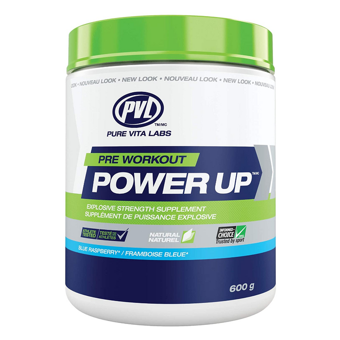 Power Up Pre-Workout Blue Raspberry Flavour PVL