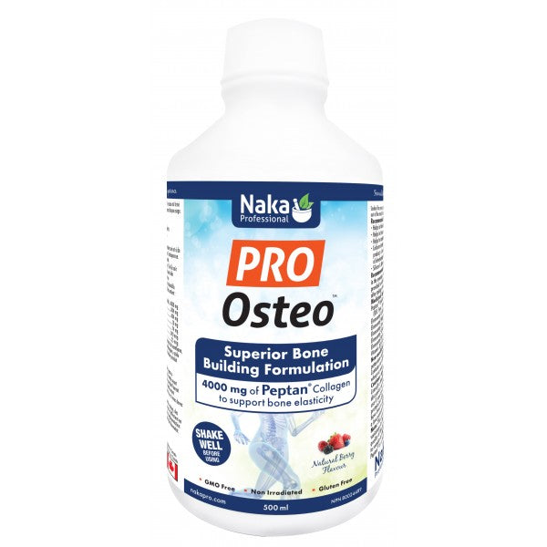 Pro Osteo Bone Building Liquid Formula 500ml Natural Berry Flavour Naka