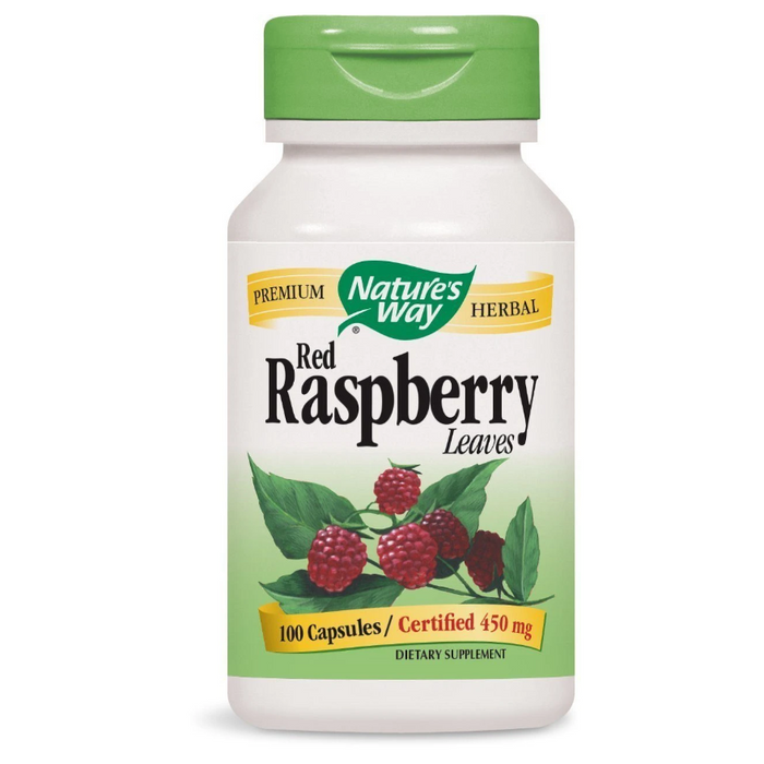 Red Raspberry Leaves 450mg 100 Capsules Nature's Way