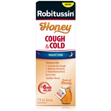 Robitussin Honey Cough and Cold Nighttime Relief 230ml