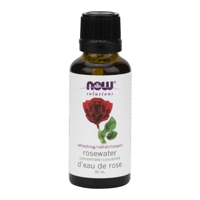 Rosewater Concentrate Essential Oil 30ml Now Foods