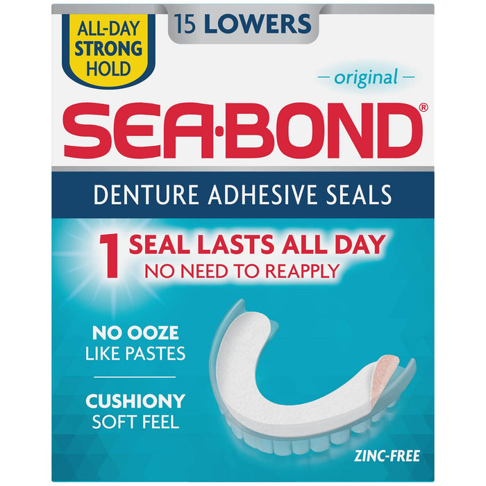 Sea-Bond Denture Adhesive Seals Zinc Free