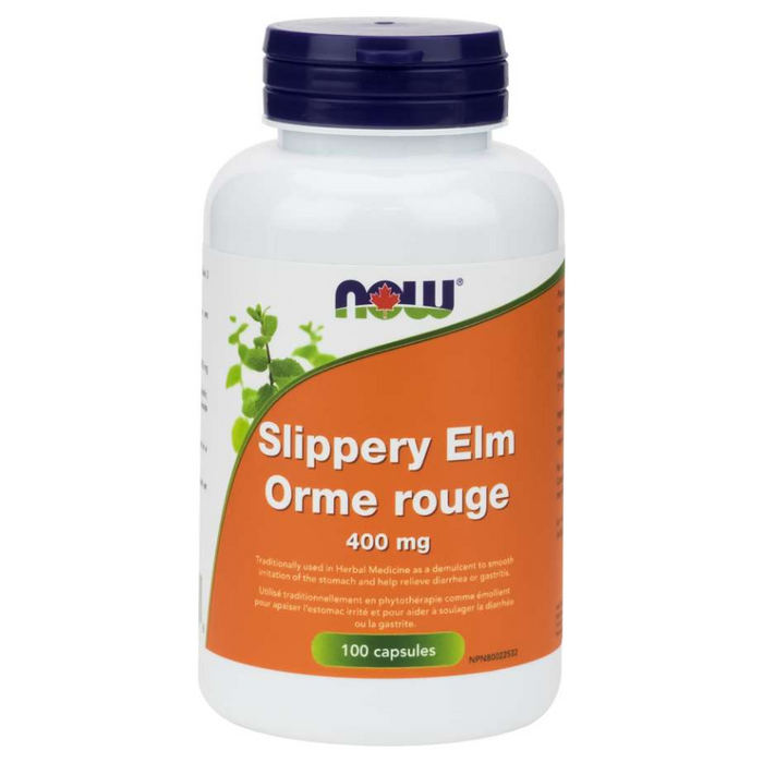 Slippery Elm 400mg 100 Capsules Now Foods