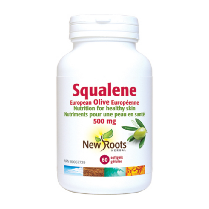 Squalene European Olive 500mg 60 Capsules New Roots Herbal