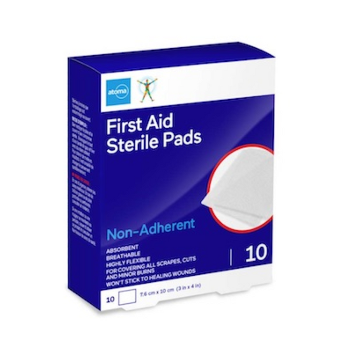 Atoma Non-Adherent First Aid Sterile Pads - 10 Pack