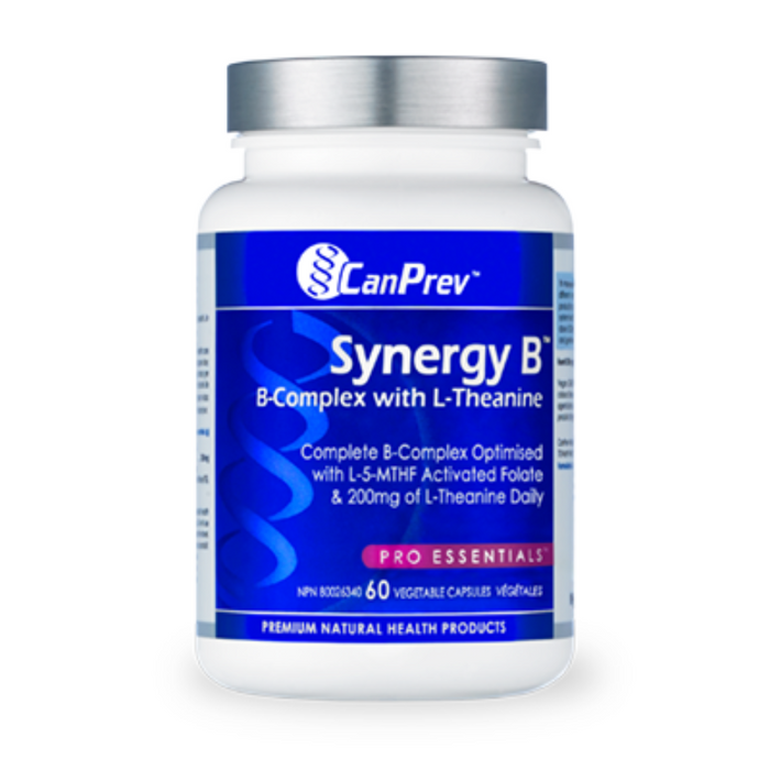 Synergy B 60 Capsules B-Complex with L-Theanine CanPrev