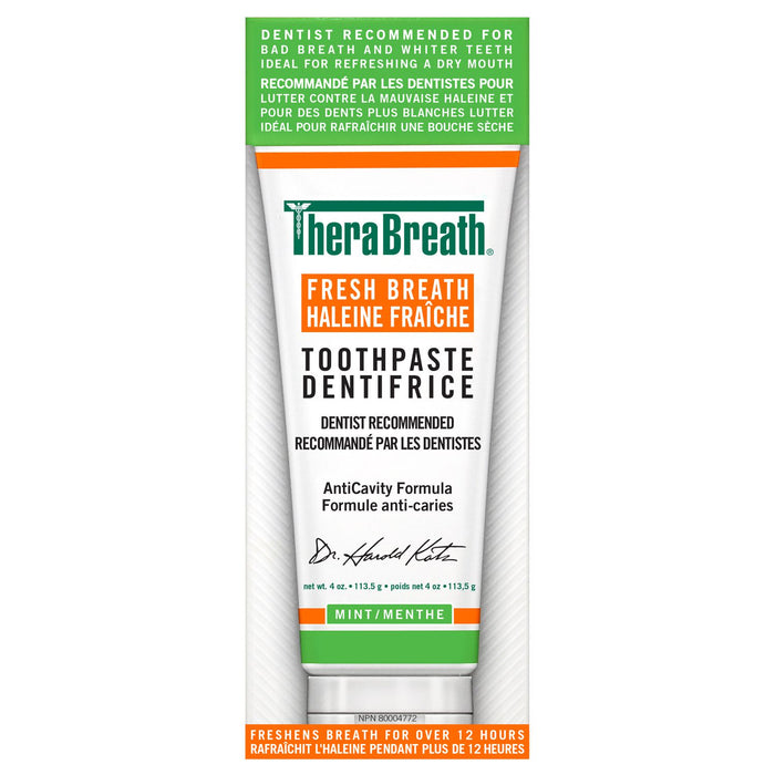 TheraBreath Fresh Breath Toothpaste Mint 113.5g