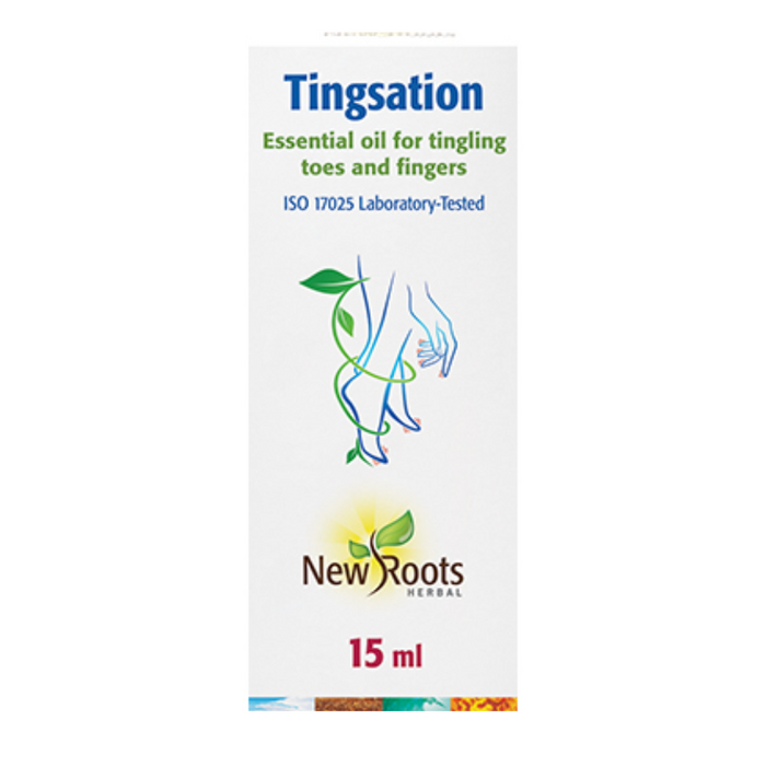 Tingsation Essential Oil for Tingling Fingers and Toes 15ml New Roots Herbal