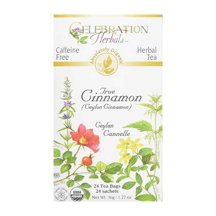 True Cinnamon (Ceylon Cinnamon) Herbal Tea 24 Tea Bags Celebration Herbals