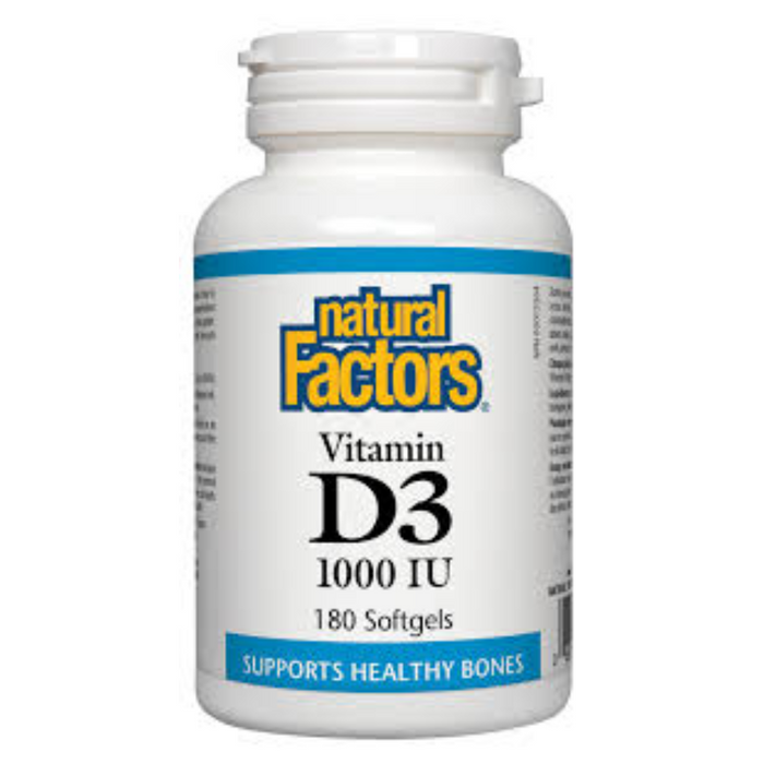 Vitamin D3 1000 IU 180 Softgels Natural Factors