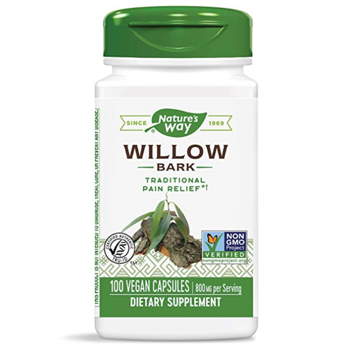 Willow Bark Extract 100 Capsules Nature's Way