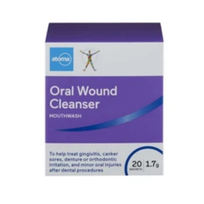 Atoma Oral Wound Cleanser Mouthwash 20 Sachets