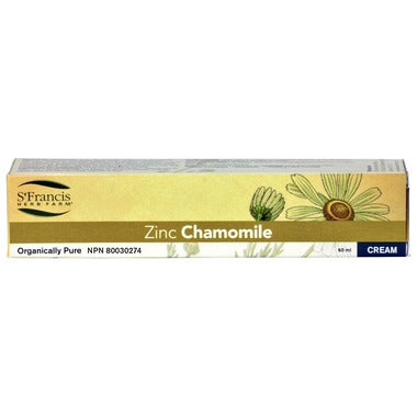 Zinc Chamomile Cream 60ml St. Francis Herb Farms